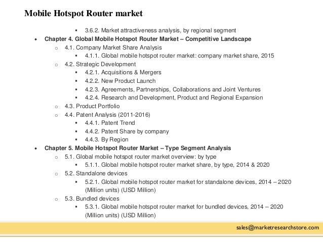 Mobile Hotspot Router market sales@marketresearchstore.com  3.6.2. Market attractiveness analysis, by regional segment  ...