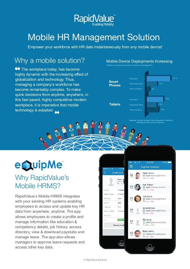 Mobile HR Management Solution  Empower your workforce with HR data instantaneously from any mobile device!  Why a mobile s...