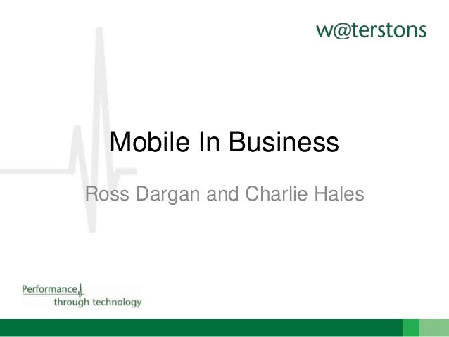 Mobile In Business Ross Dargan and Charlie Hales