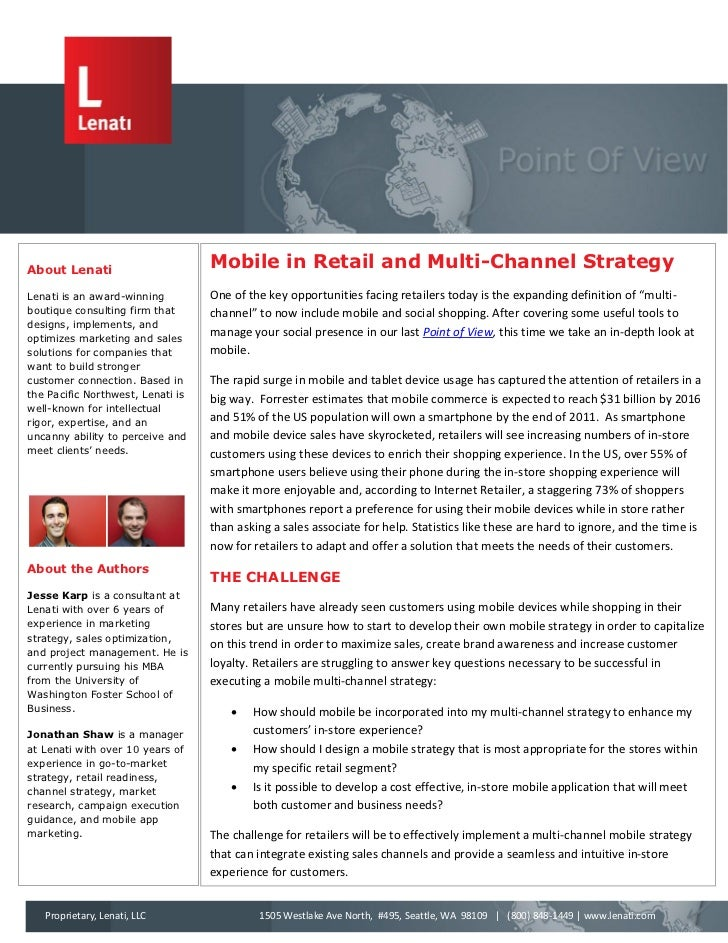 About Lenati                                   Mobile in Retail and Multi-Channel StrategyLenati is an award-winning      ...