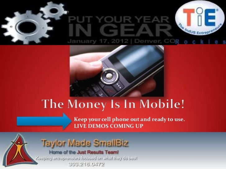 Keep your cell phone out and ready to use.LIVE DEMOS COMING UP