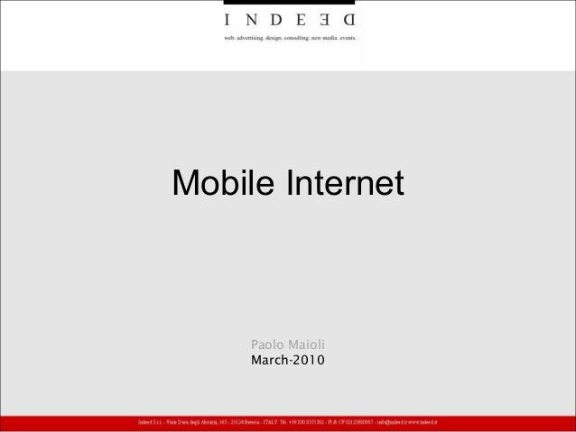 Mobile Internet Paolo Maioli March-2010