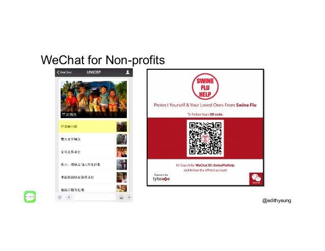 WeChat for Non-profits @edithyeung