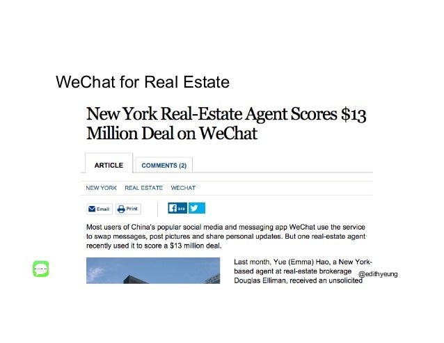 WeChat for Real Estate @edithyeung