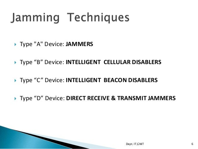 Call jammers - types of jammers