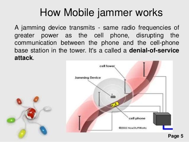 Mobile jammer North Bay - how mobile jammer works
