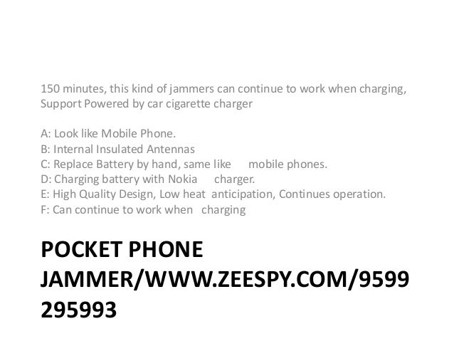 Cell phone jammer pdf | jammer cell phones while driving