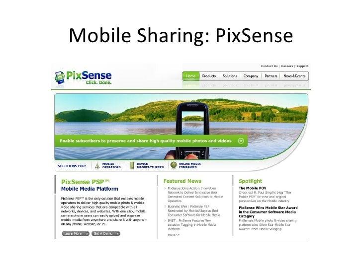 mobile sharing pixsense