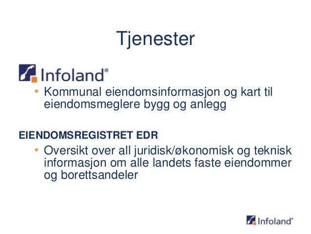 infoland kart Mobile kart og eiendomsinformasjon   Esri norsk BK 2014 infoland kart