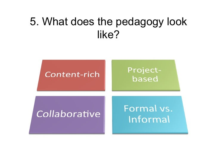 5. What does the pedagogy look             like?