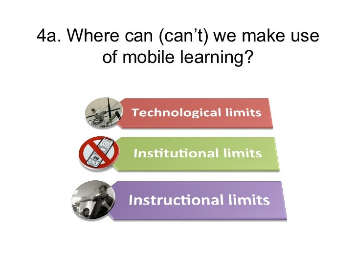 4a. Where can (can't) we make use       of mobile learning?