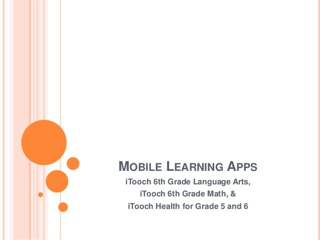 Module 5 assignment mobile learning apps itooch 6th grade language arts itooch 6th grade math publicscrutiny Choice Image