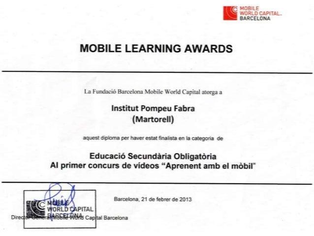 Mobile learning awards