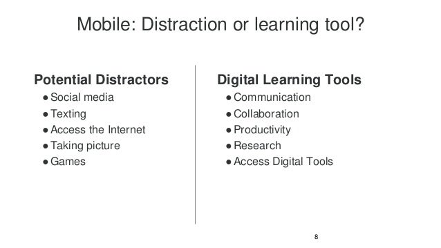 Pros and cons of mobile mobile distraction or learning tool potential distractors social media texting access fandeluxe Image collections