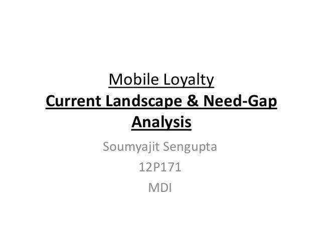 Mobile LoyaltyCurrent Landscape & Need-Gap           Analysis      Soumyajit Sengupta          12P171            MDI