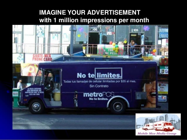 IMAGINE YOUR ADVERTISEMENT with 1 million impressions per month