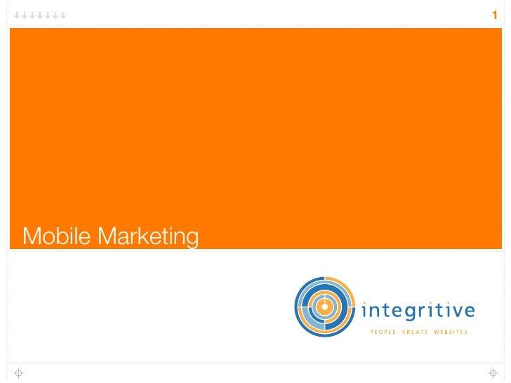 1     Mobile Marketing