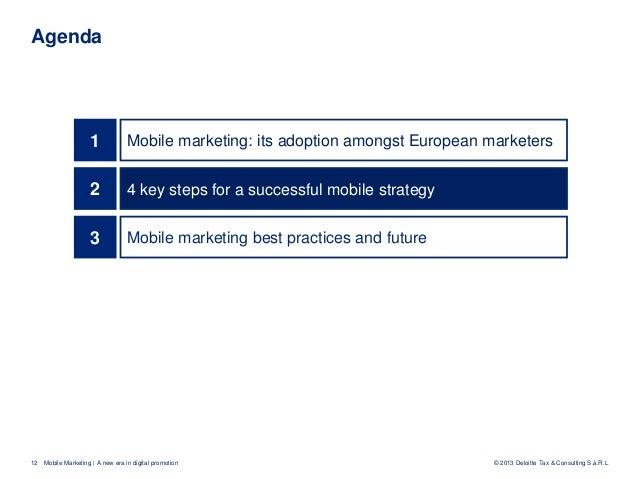 Mobile Marketing A New Era In Digital Promotion V2013