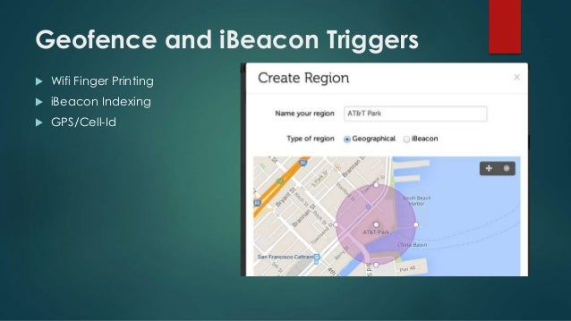 Geofence and iBeacon Triggers  Wifi Finger Printing  iBeacon Indexing  GPS/Cell-Id