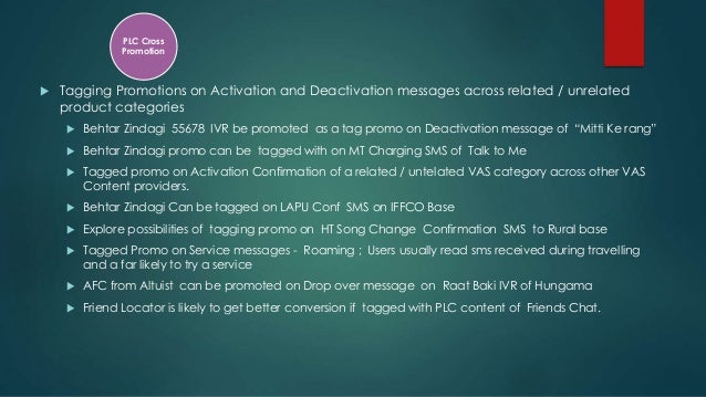  Tagging Promotions on Activation and Deactivation messages across related / unrelated product categories  Behtar Zindag...
