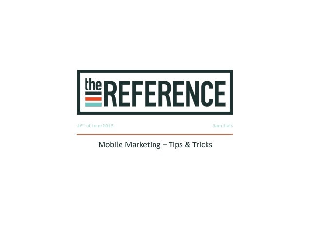 Mobile marketing tips & tricks - faces of content