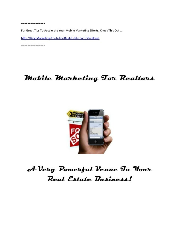 ===============For Great Tips To Accelerate Your Mobile Marketing Efforts, Check This Out ...http://Blog.Marketing-Tools-F...