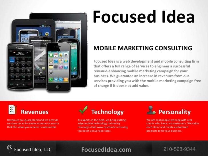 Focused Idea                                                         MOBILE MARKETING CONSULTING                          ...