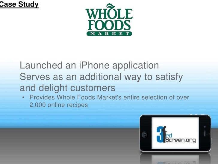Whole Foods Application Skills