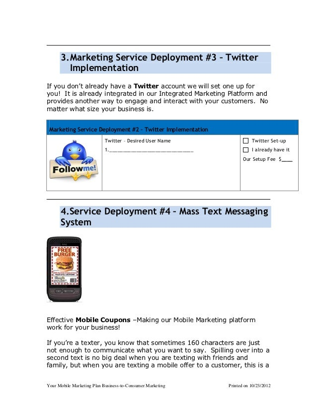 3. Marketing Service Deployment #3 – Twitter         ImplementationIf you don't already have a Twitter account we will set...