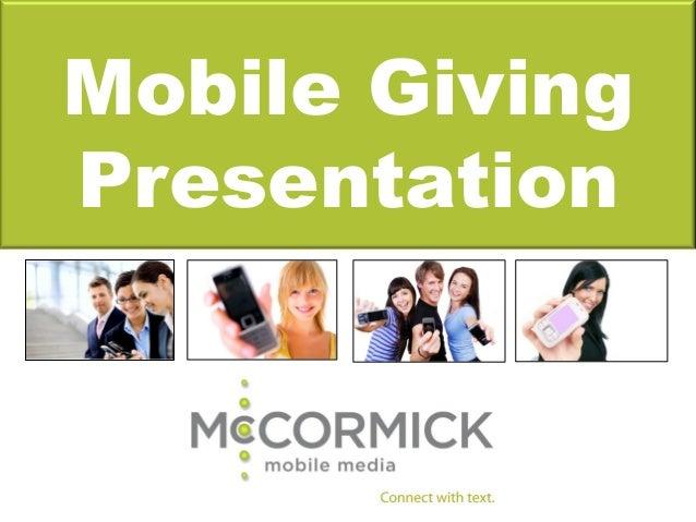 Mobile GivingPresentation