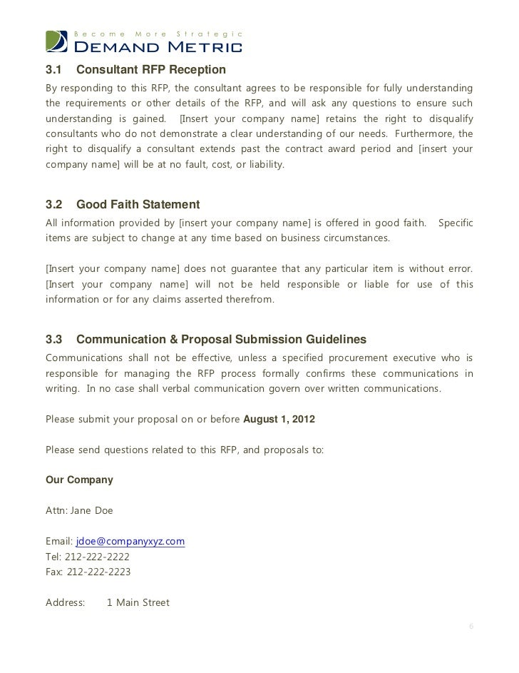 Proposal Submission Procedure 5 6