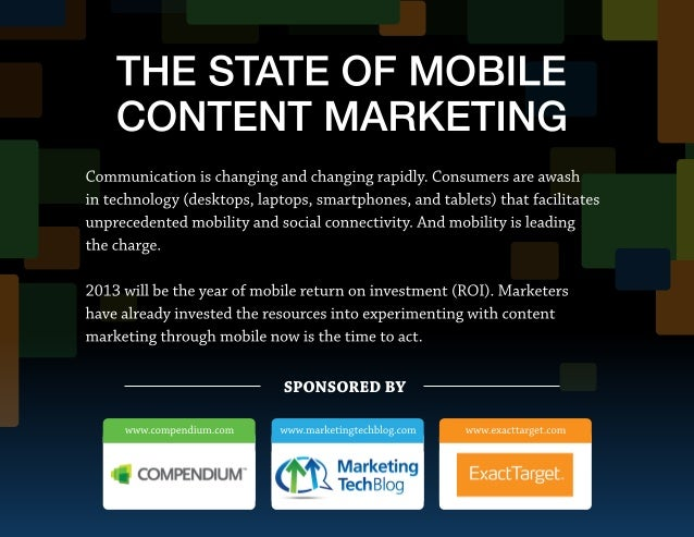The State of Mobile Content Marketing in 2013