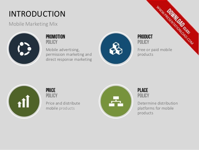 Mobile Marketing PPT Template - Marketing policy template
