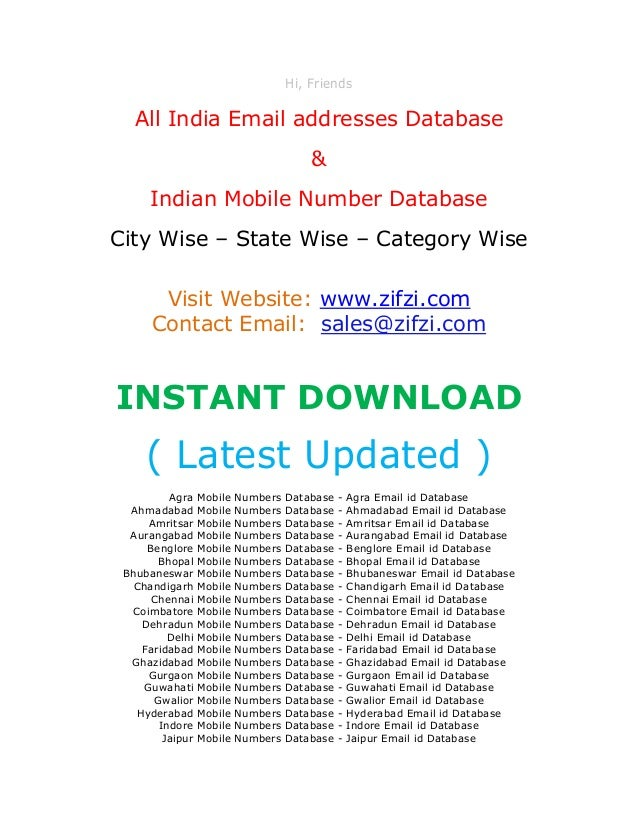 Mobile Marketing & SMS Databases all india buy-Sa