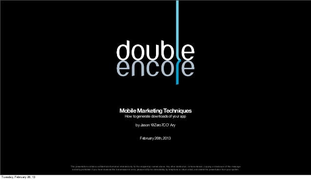 Mobile Marketing Techniques                                                                                    How to gene...