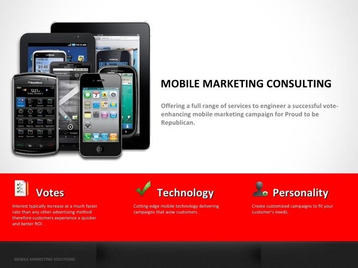 MOBILE MARKETING CONSULTING                                                            Offering a full range of services t...