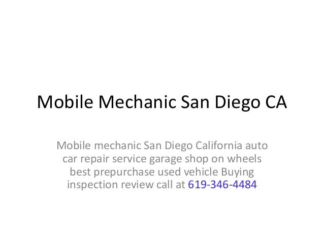 Used Car Inspection Mechanic San Diego