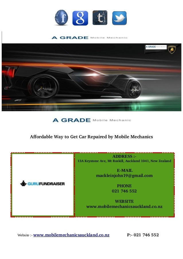 AffordableWaytoGetCarRepairedbyMobileMechanics Website :- www.mobilemechanicsauckland.co.nzP:0217...