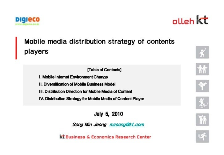 Mobile media distribution strategy of contents players<br />[Table of Contents]<br />Ⅰ. Mobile Internet Environment Change...