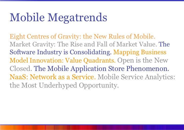 Mobile Megatrends 2009 (VisionMobile) Slide 3