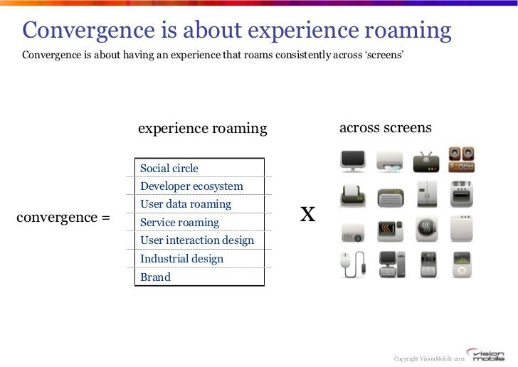 Convergence is about experience roamingConvergence is about having an experience that roams consistently across 'screens' ...