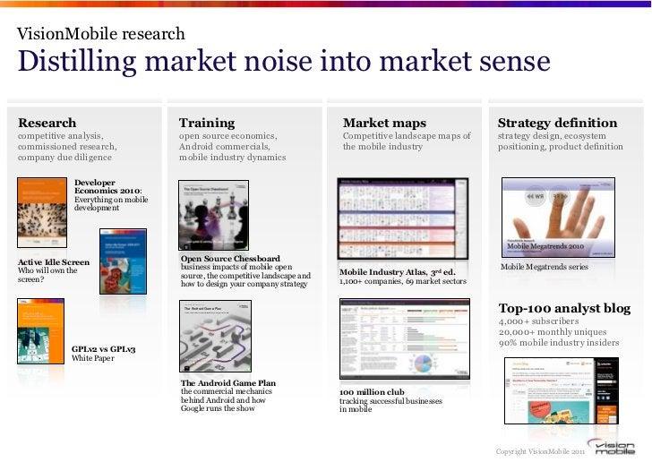 VisionMobile researchDistilling market noise into market senseResearch                             Training               ...