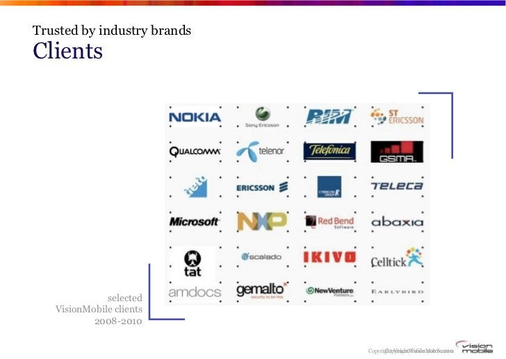 Trusted by industry brandsClients              selected   VisionMobile clients           2008-2010                        ...
