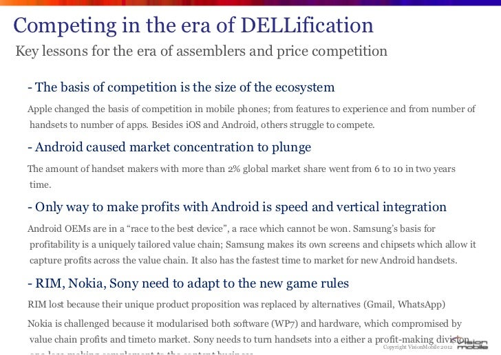 Competing in the era of DELLificationKey lessons for the era of assemblers and price competition - The basis of competitio...