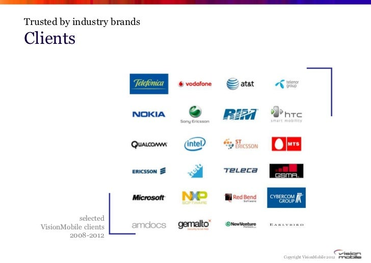 Trusted by industry brandsClients an established analyst company     from             selected clients 2009-2012          ...
