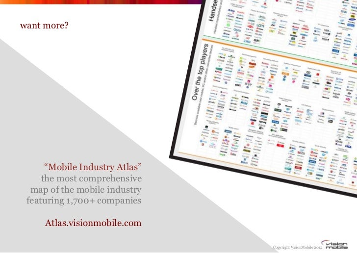 """want more?      """"Mobile Industry Atlas""""     the most comprehensive  map of the mobile industry featuring 1,700+ companies ..."""