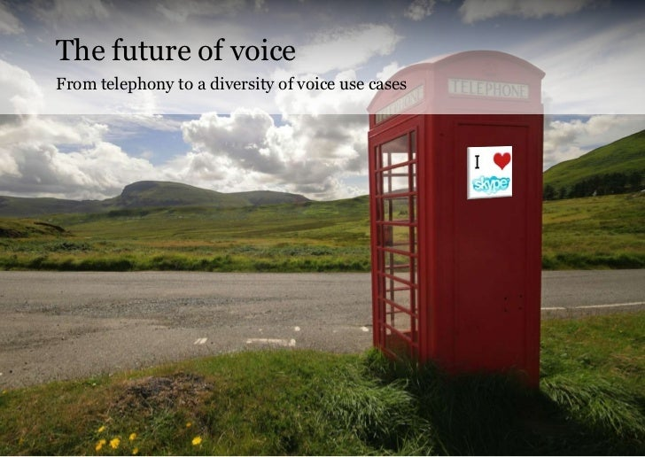 The future of voiceFrom telephony to a diversity of voice use cases                                                   Copy...