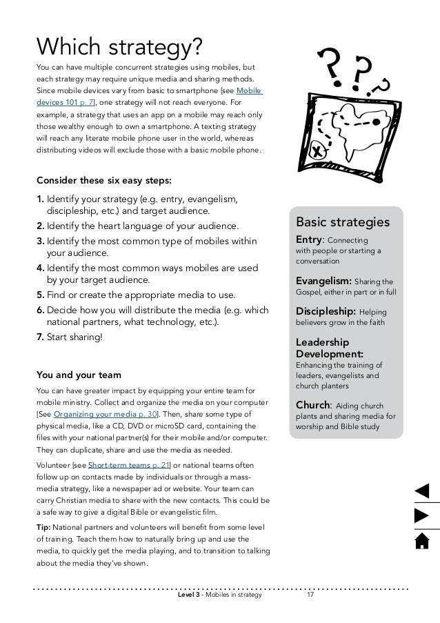 Which strategy?  You can have multiple concurrent strategies using mobiles, but  each strategy may require unique media an...