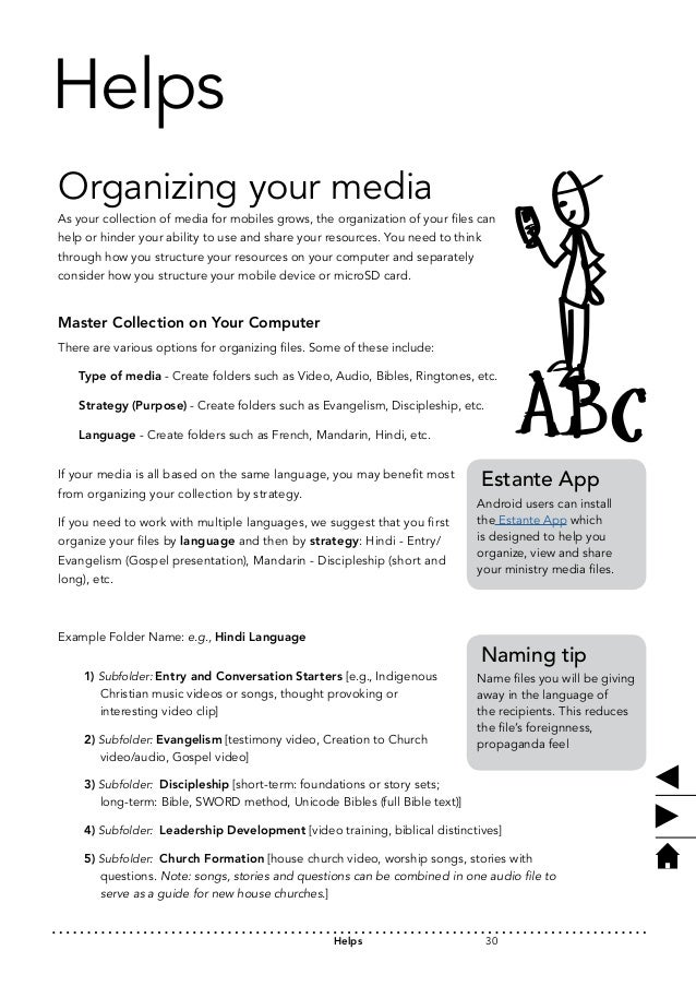 Helps  Organizing your media  As your collection of media for mobiles grows, the organization of your files can  help or h...