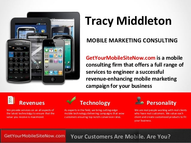 Tracy Middleton                                                             MOBILE MARKETING CONSULTING                   ...